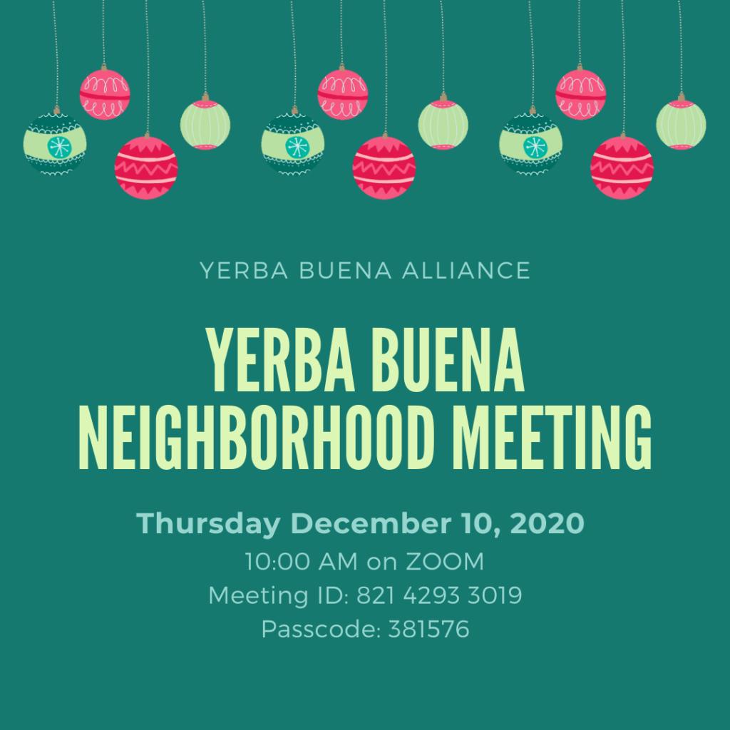 Yerba Buena Neighborhood Meeting