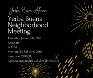 January 14th Neighborhood Meeting