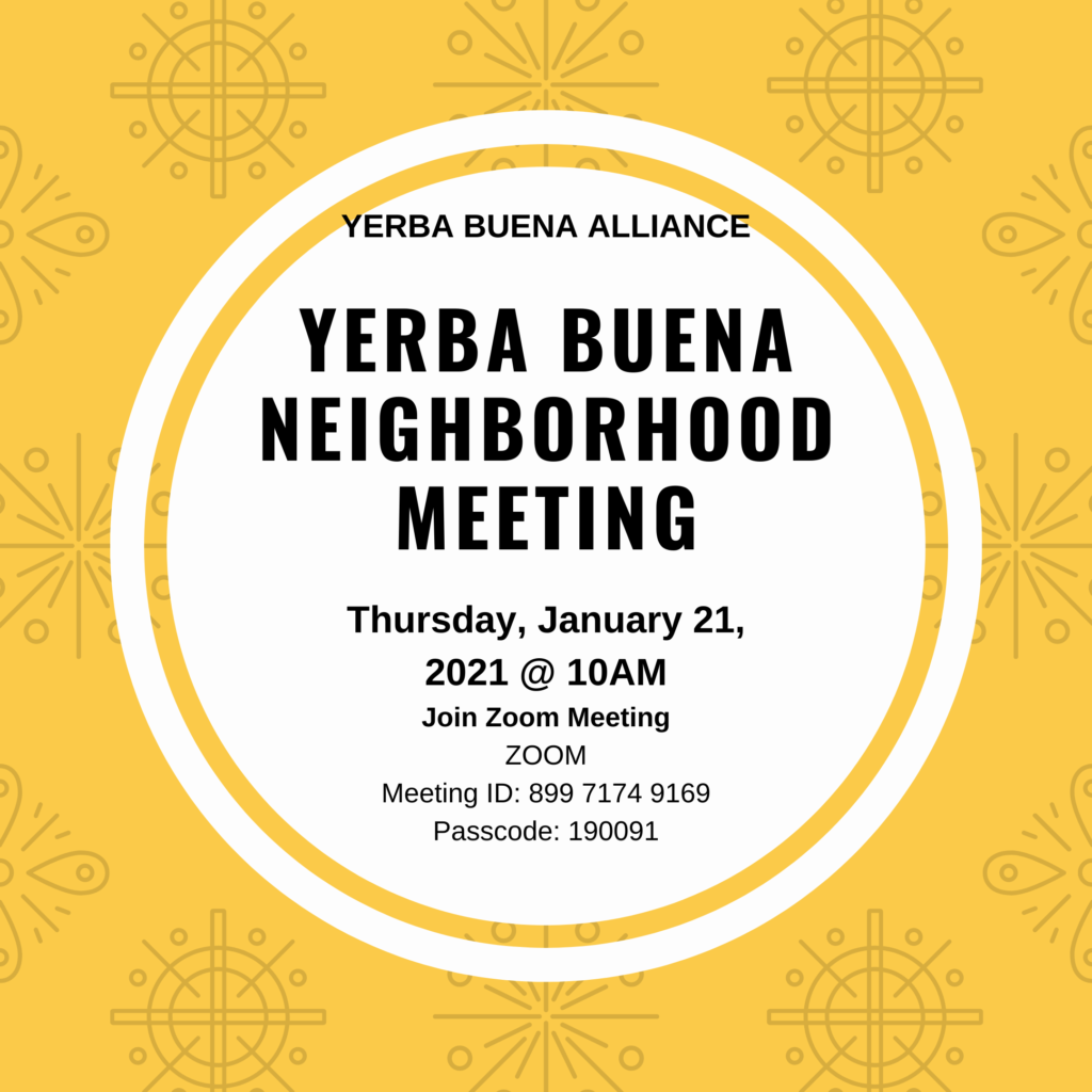 January 21st Neighborhood Meeting