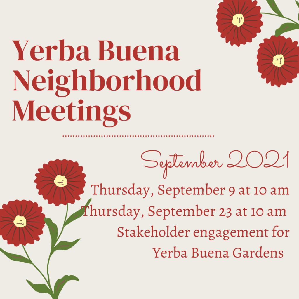 September 9 Neighborhood Meeting